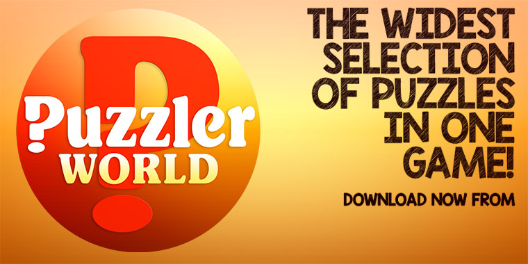 Download Puzzler World for the widest selection of puzzles in one game!