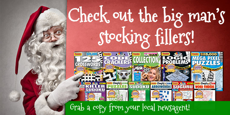 Puzzler's puzzle magazines make great stocking fillers!